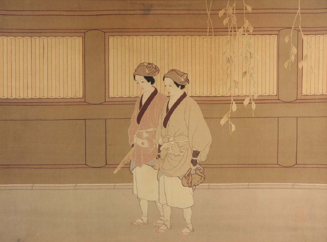 JAPANESE PRINT ON SILK - 2
