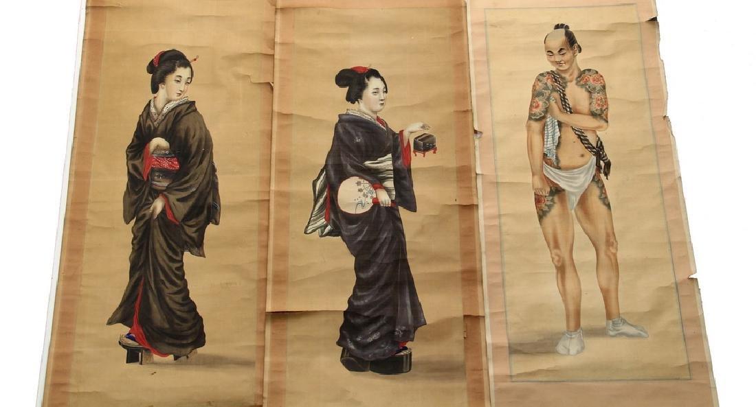 (3) JAPANESE SCROLLS