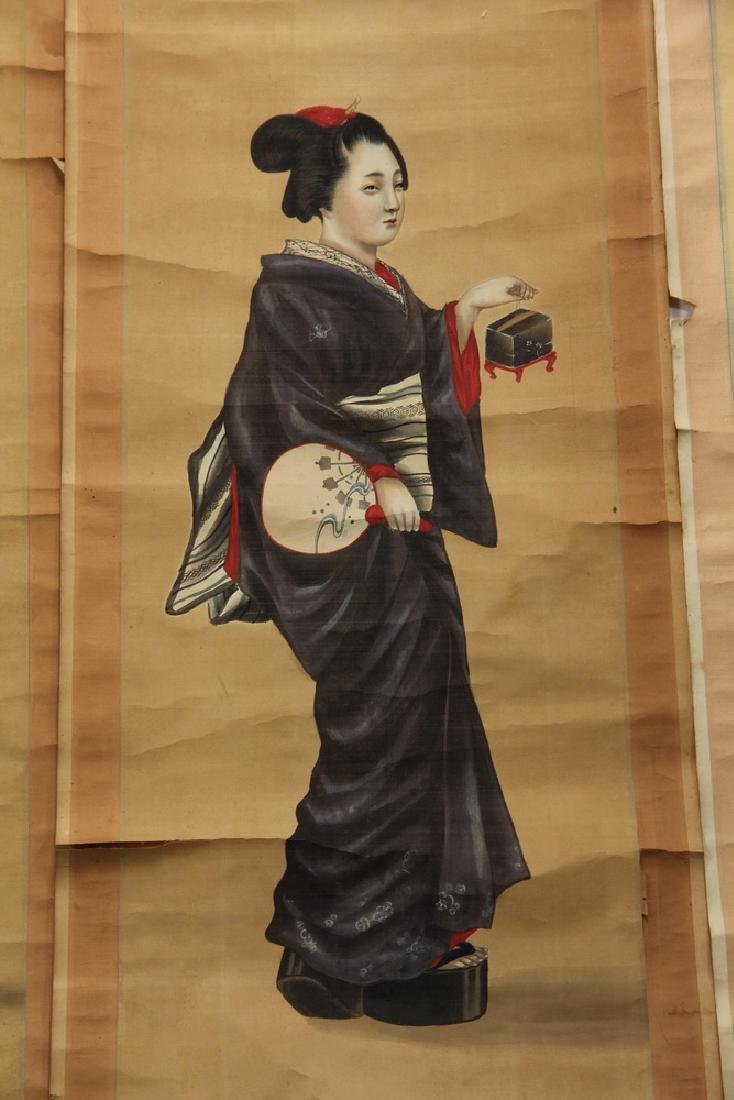 (3) JAPANESE SCROLLS - 3
