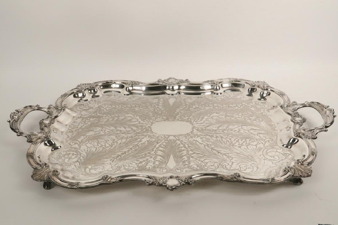 SILVER PLATED SERVING TRAY - 3