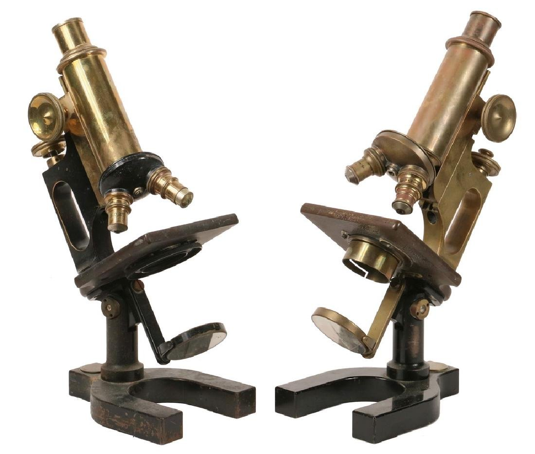 (2) ANTIQUE MICROSCOPES