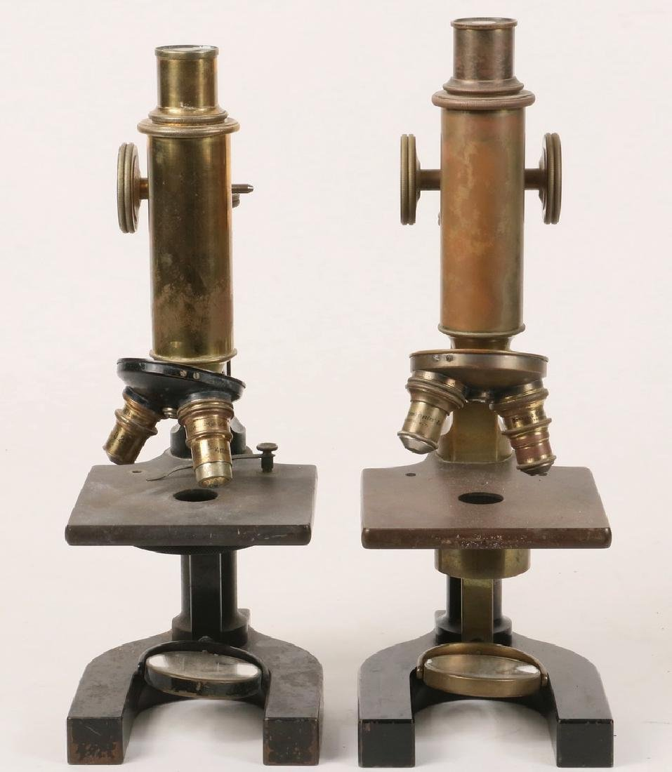 (2) ANTIQUE MICROSCOPES - 2