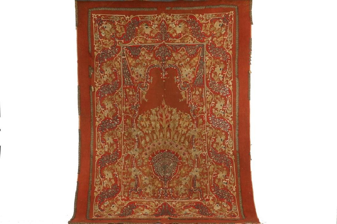 OTTOMAN EMBROIDERED MIHRAB TEXTILE