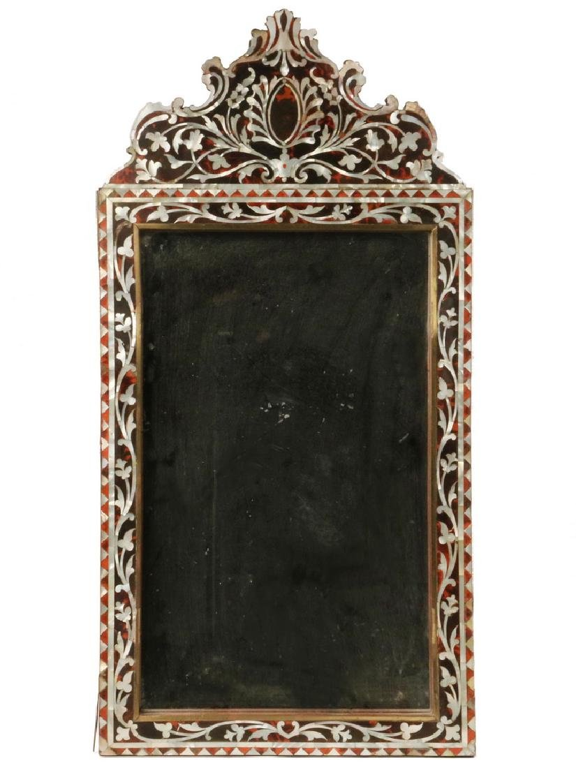 EARLY MOTHER-OF-PEARL INLAID MIRROR FRAME