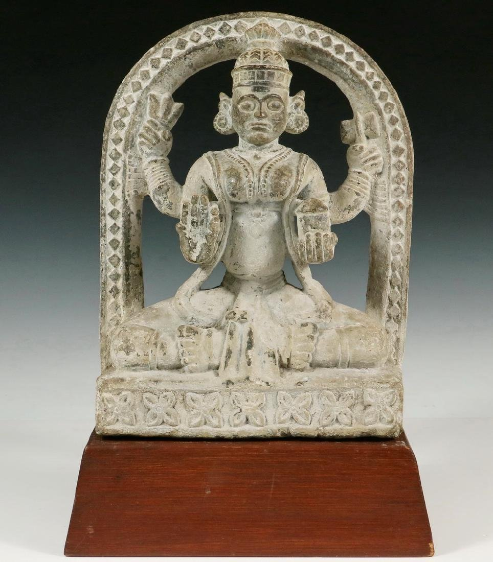 HINDU TEMPLE ARCHITECTURAL FRAGMENT