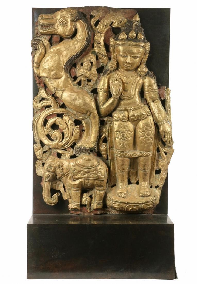 HINDU GILT ARCHITECTURAL ELEMENT