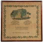 19TH C. AMERICAN MEMORIAL NEEDLEWORK