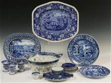 17 PCS ENGLISH BLUE TRANSFERWARE