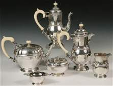 (6 PC) ENGLISH STERLING SILVER BEVERAGE SERVICE