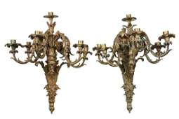 PAIR OF MONUMENTAL FRENCH WALL SCONCES