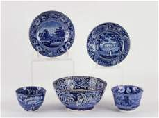 14 PCS EARLY BLUE TRANSFERWARE