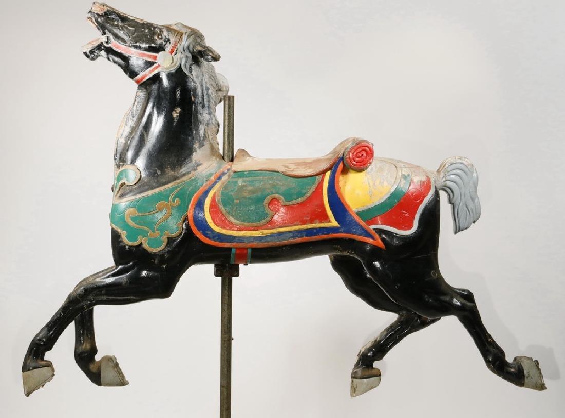 BLACK CAROUSEL HORSE