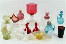 15 PCS VINTAGE ART GLASS