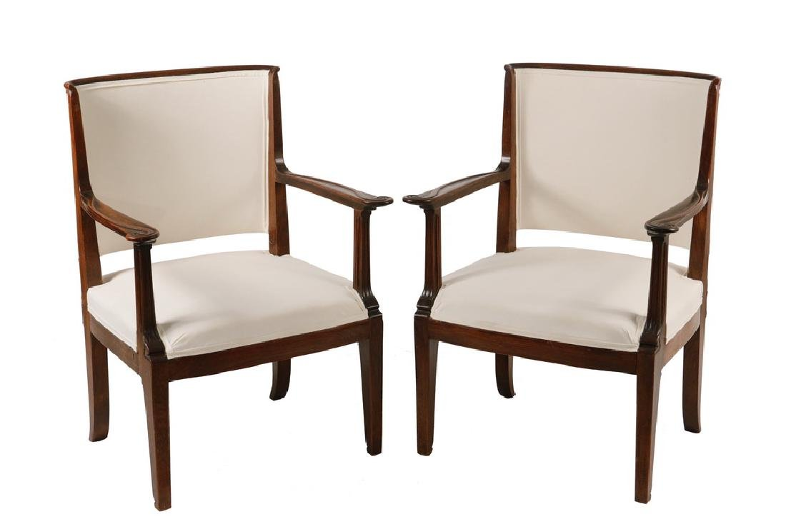 PAIR OF 18TH C. ROSEWOOD ARMCHAIRS