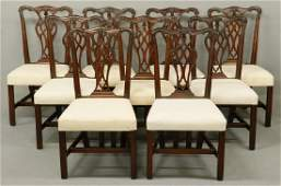 (SET OF 9) CENTENNIAL STYLE CHIPPENDALE CHAIRS ATTR. TO