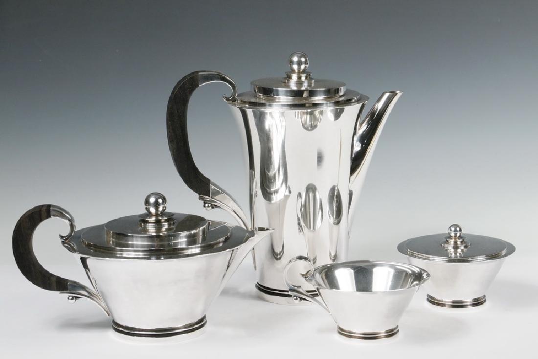 (4 PC) GEORG JENSEN TEA & COFFEE SERVICE