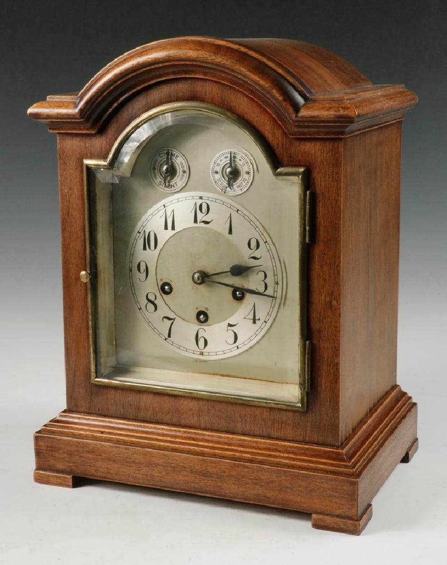 Antique French Marquetry Mahogany Mantle Clock C.1900 By Scientific Process Antique Furniture