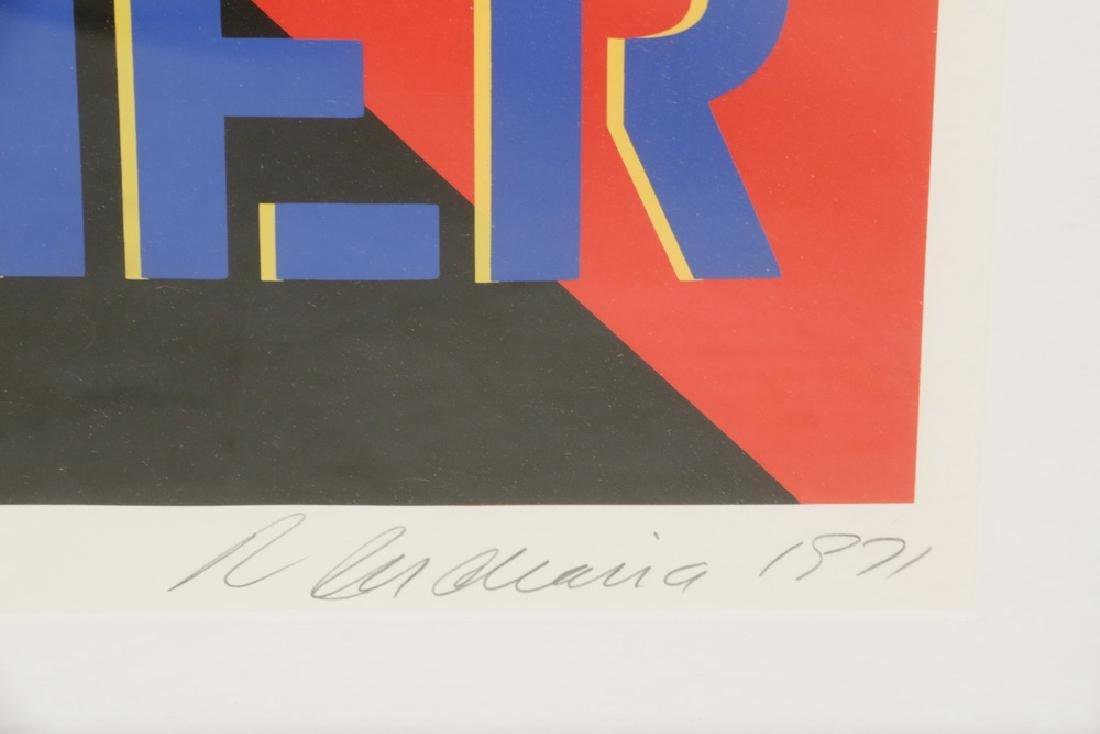 ROBERT INDIANA (NY/ME/OH, 1923 - ) - 3