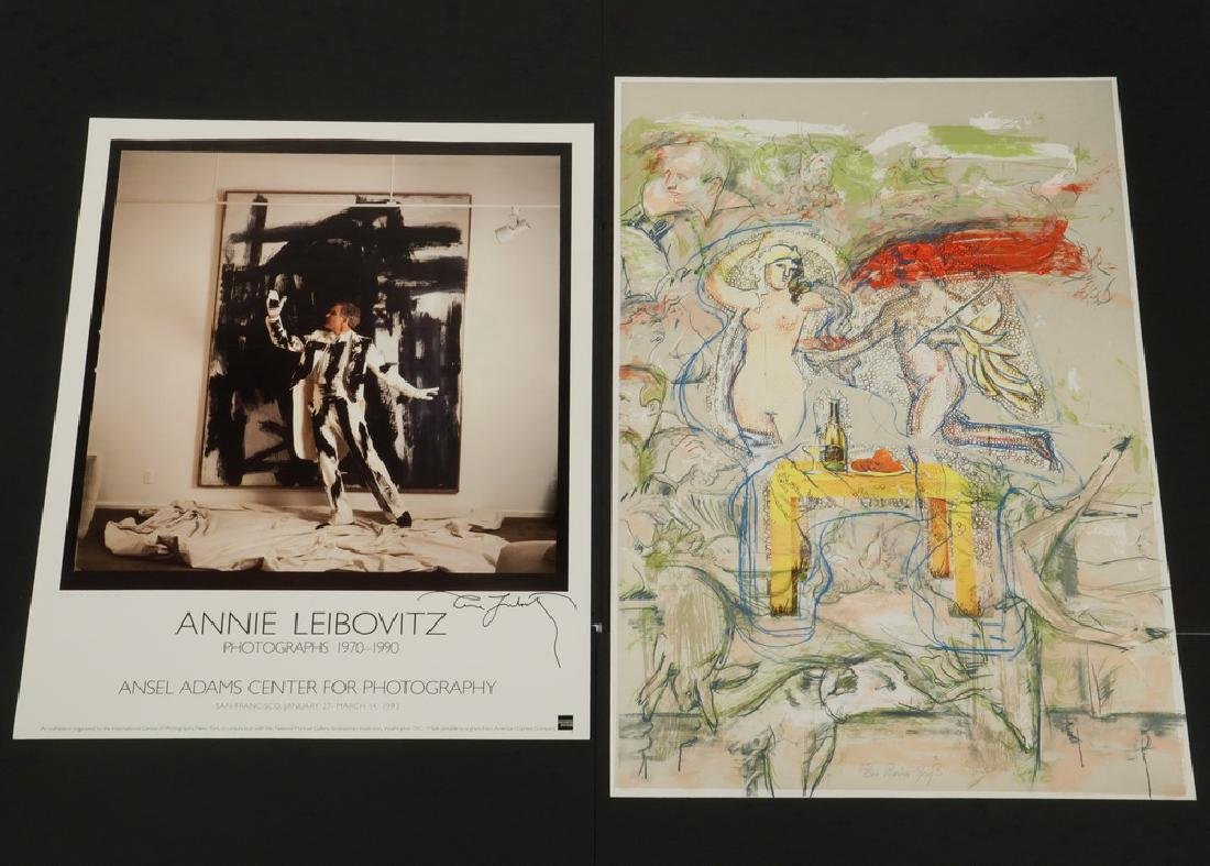 (8) SIGNED EXHIBITION POSTERS & ORIGINAL ART BY - 9