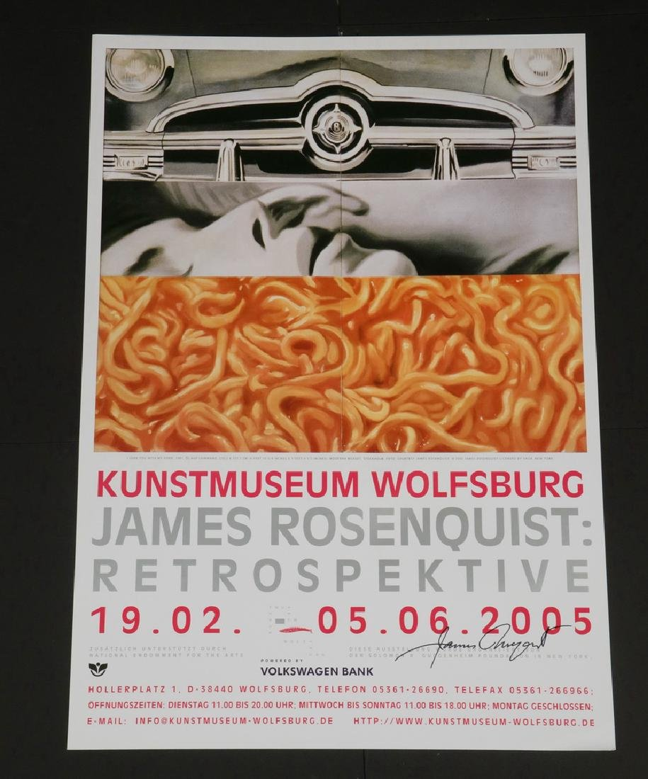 (6) SIGNED EXHIBITION POSTERS - ROSENQUIST, SHERMAN, - 2