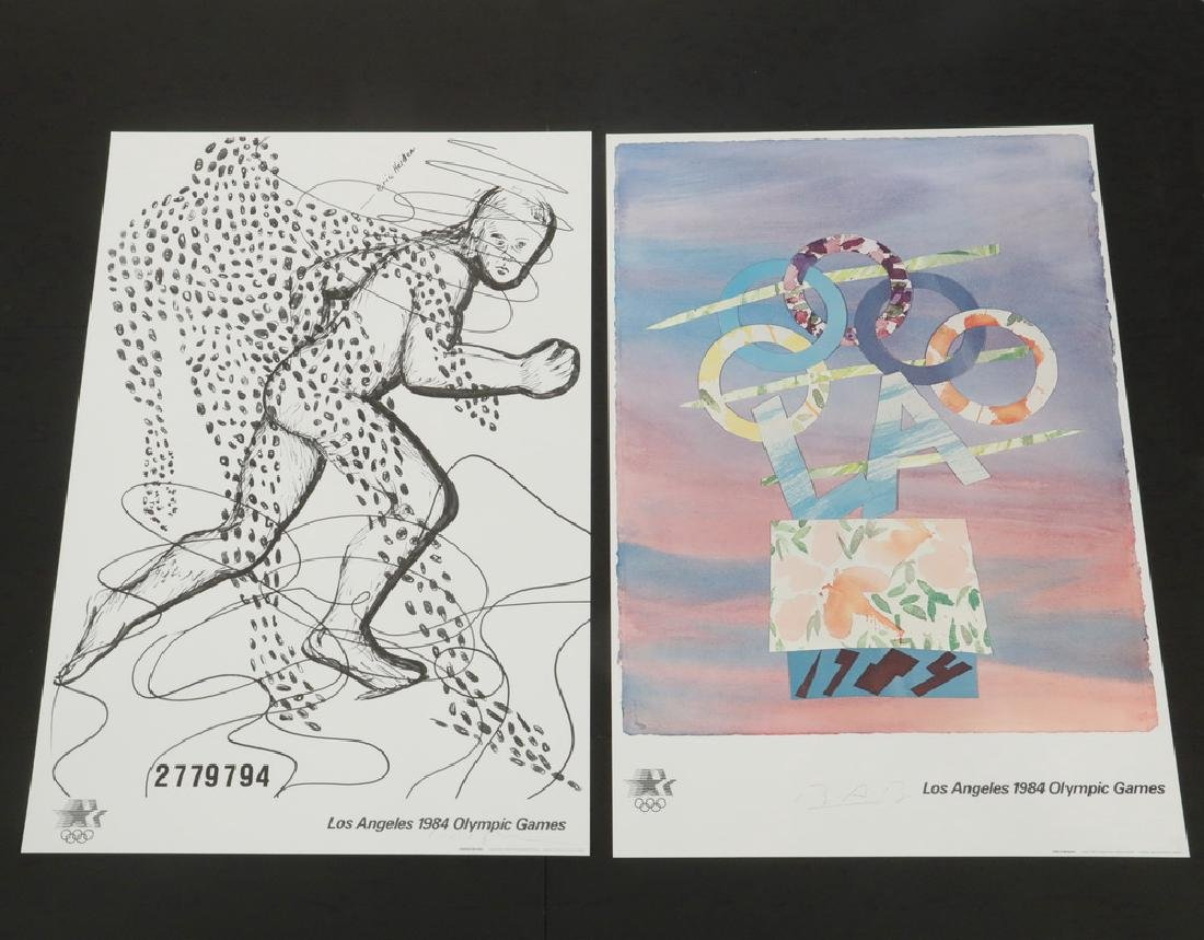 (7) SIGNED EVENT POSTERS 1984 LOS ANGELES OLYMPIC - 5