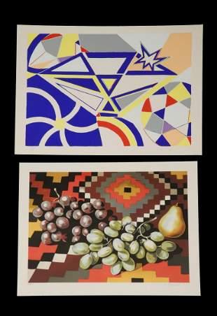 2 PRINTS BY KNOX MARTIN COLUMBIANY 1923