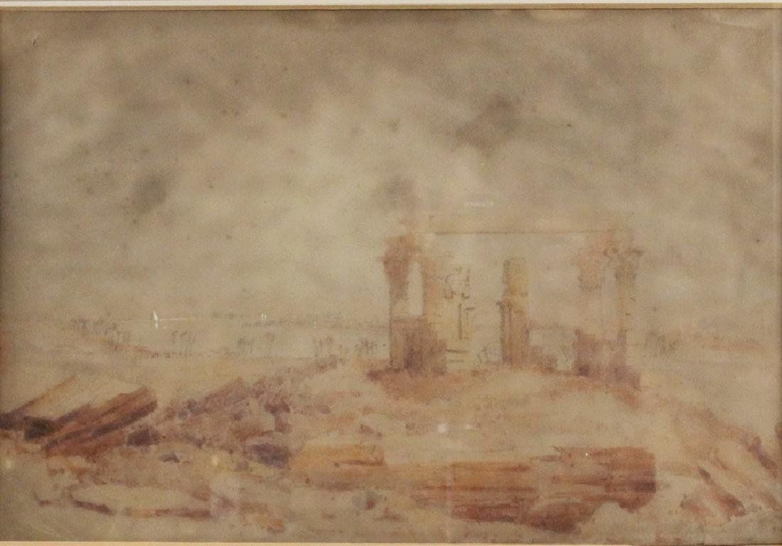 19TH C. GRAND TOUR WATERCOLOR - 2