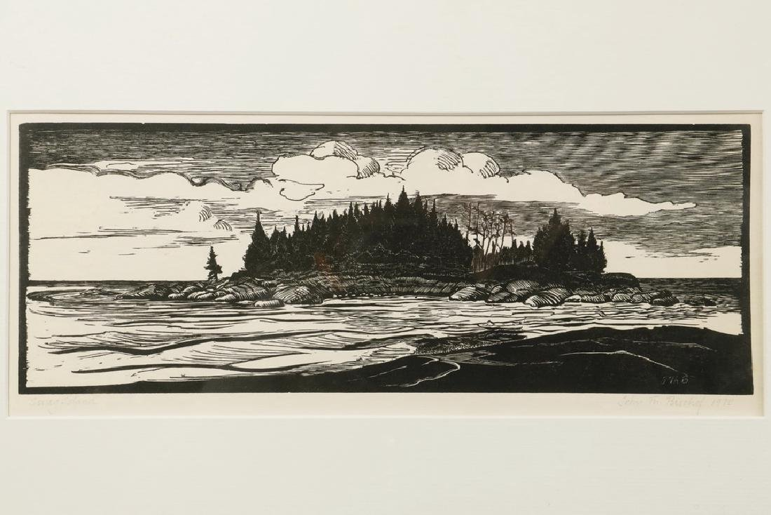 (2) 20TH C. WOODCUT PRINTS - 2