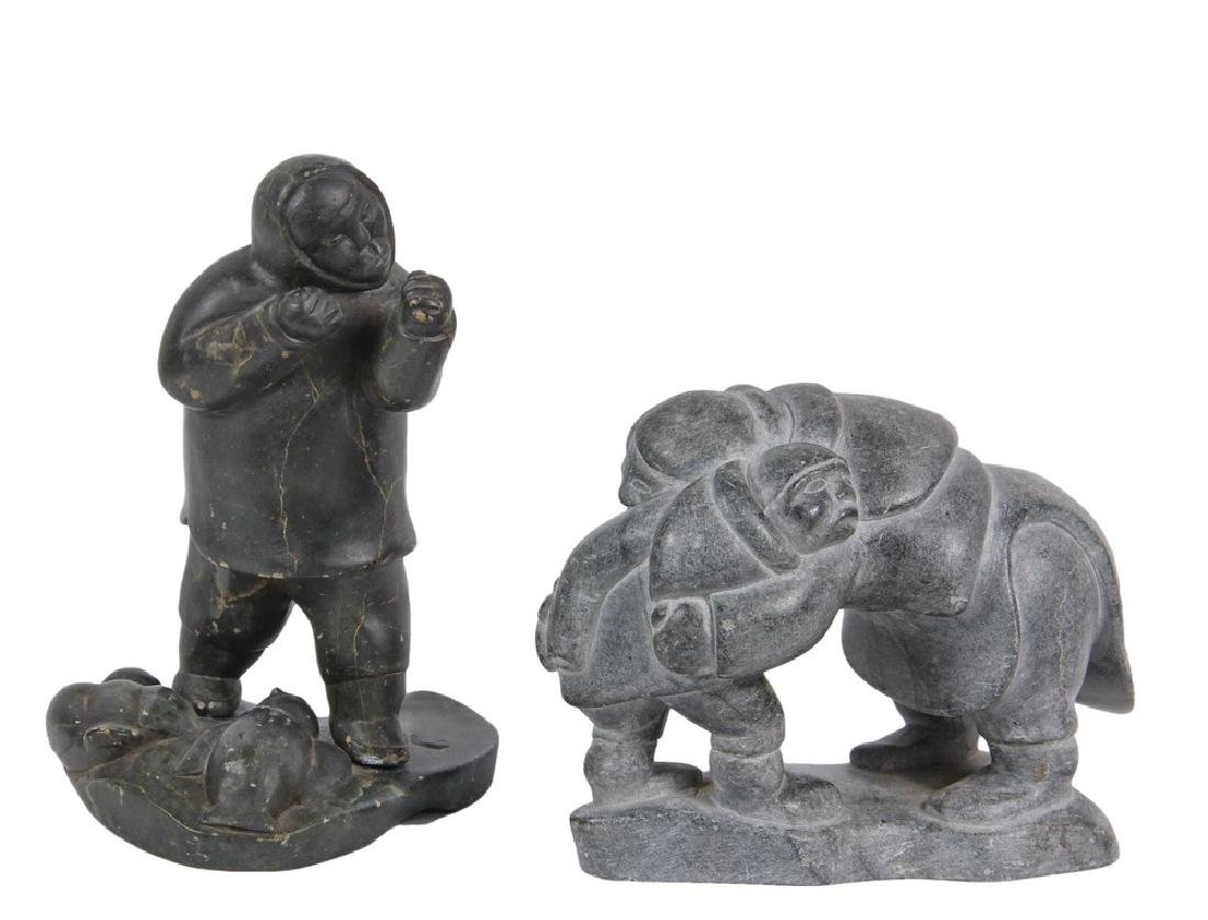 (2) INUIT STONE CARVINGS