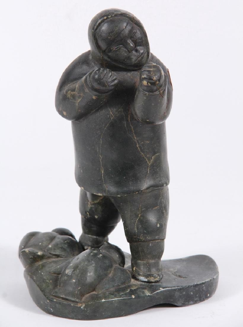 (2) INUIT STONE CARVINGS - 2