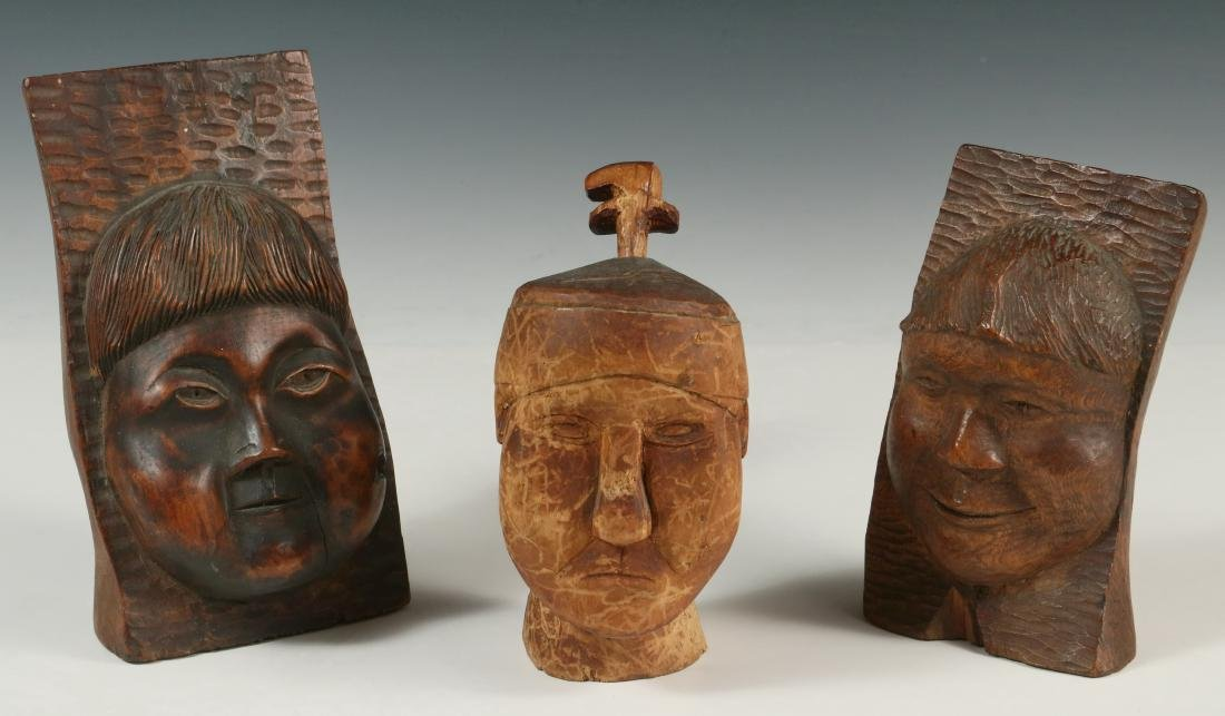 (3) INUIT WOOD CARVINGS