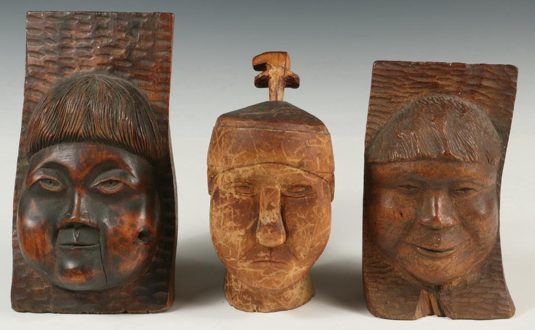 (3) INUIT WOOD CARVINGS - 2
