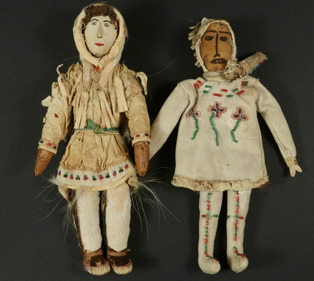 (2) EARLY INUIT DOLLS
