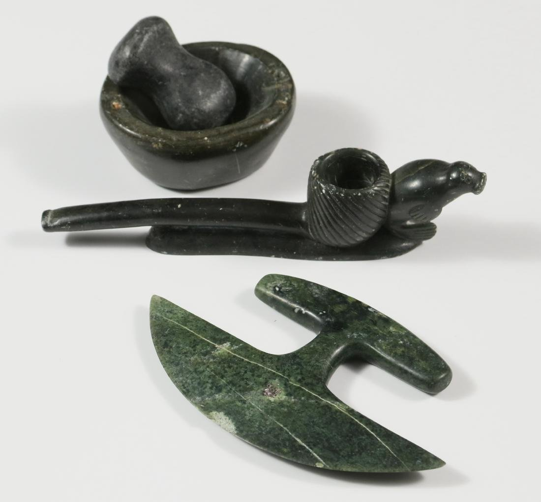 (3) INUIT CARVED TOOLS