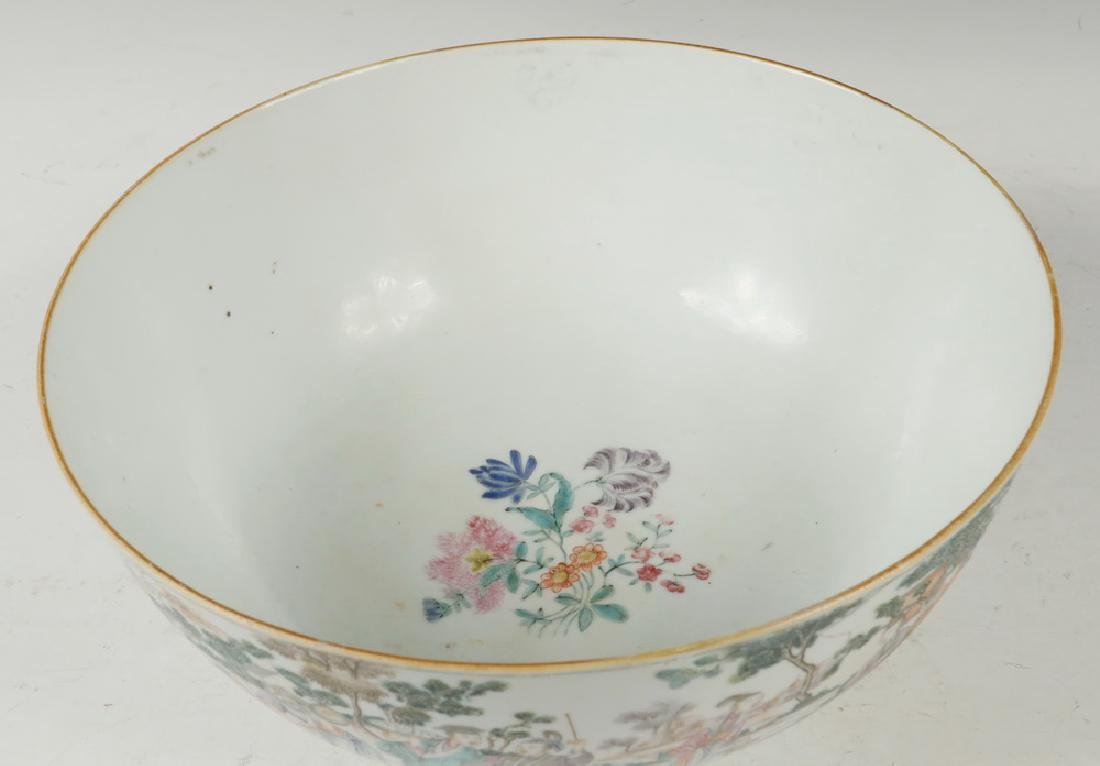 CHINESE PORCELAIN PUNCH BOWL - 2