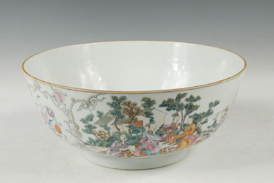 CHINESE PORCELAIN PUNCH BOWL - 3