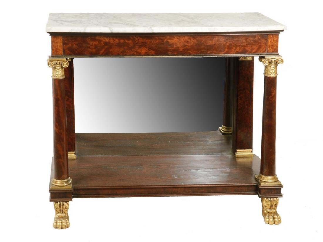FEDERAL MARBLE TOP PIER TABLE