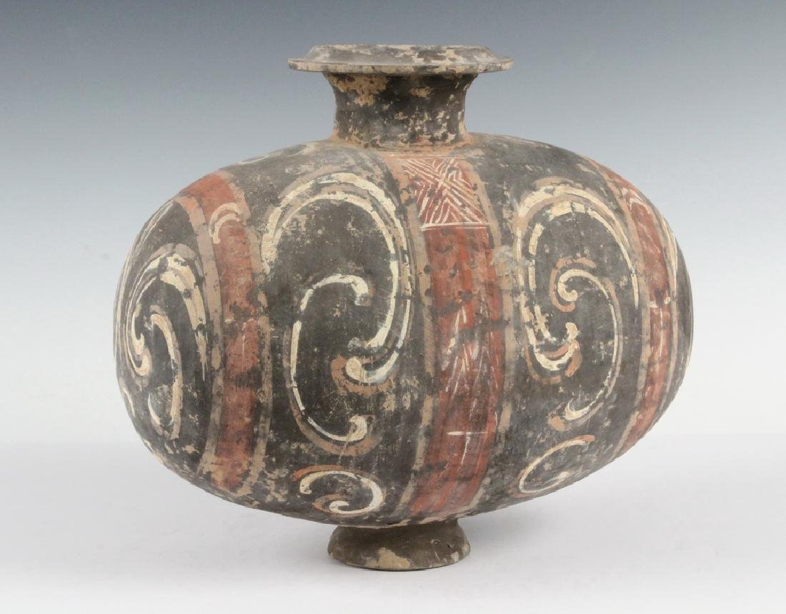 ANCIENT CHINESE POTTERY TOMB JAR