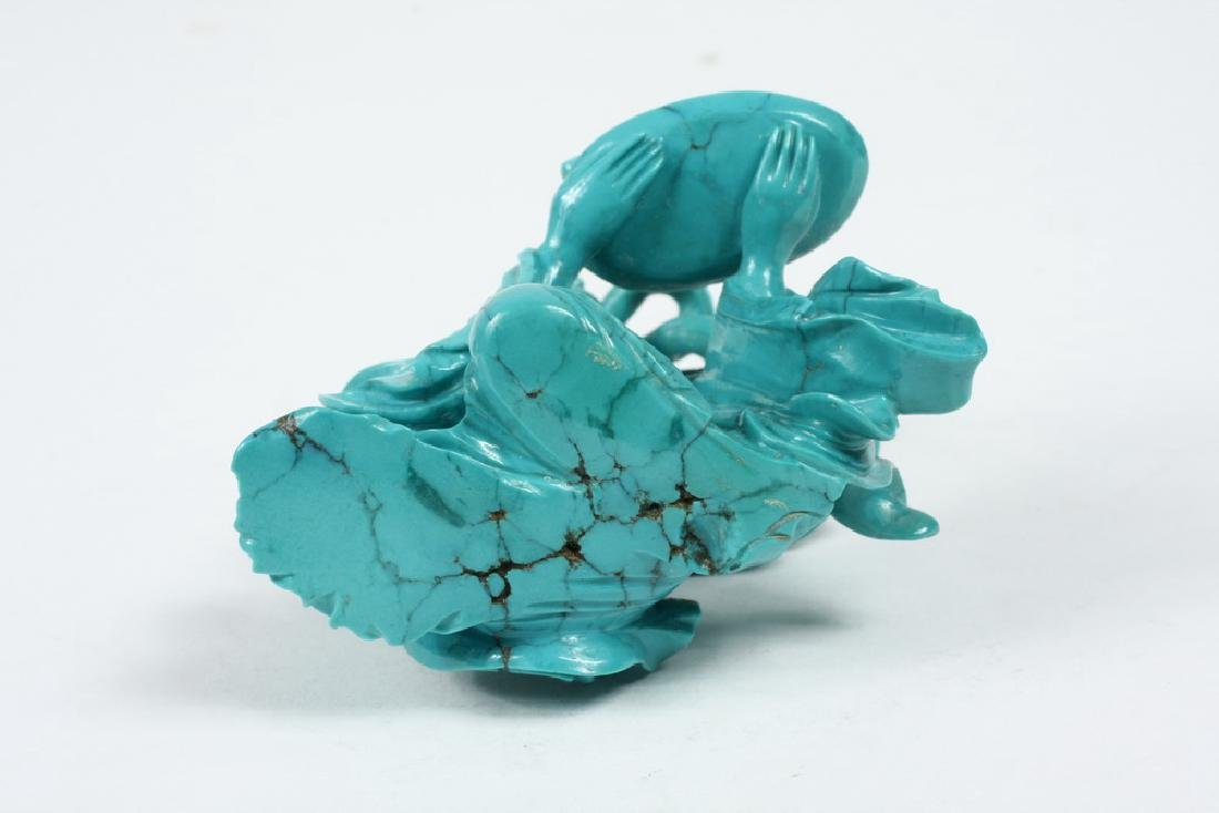 TURQUOISE CARVED COURT LADY - 4