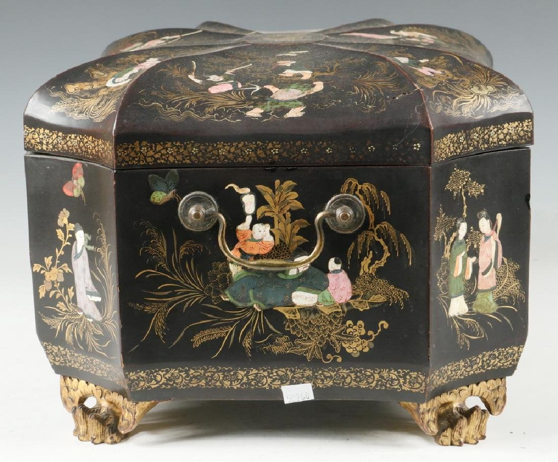 LACQUERED TEA CADDY - 2