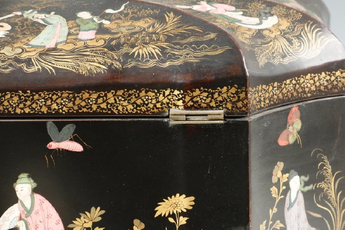 LACQUERED TEA CADDY - 3