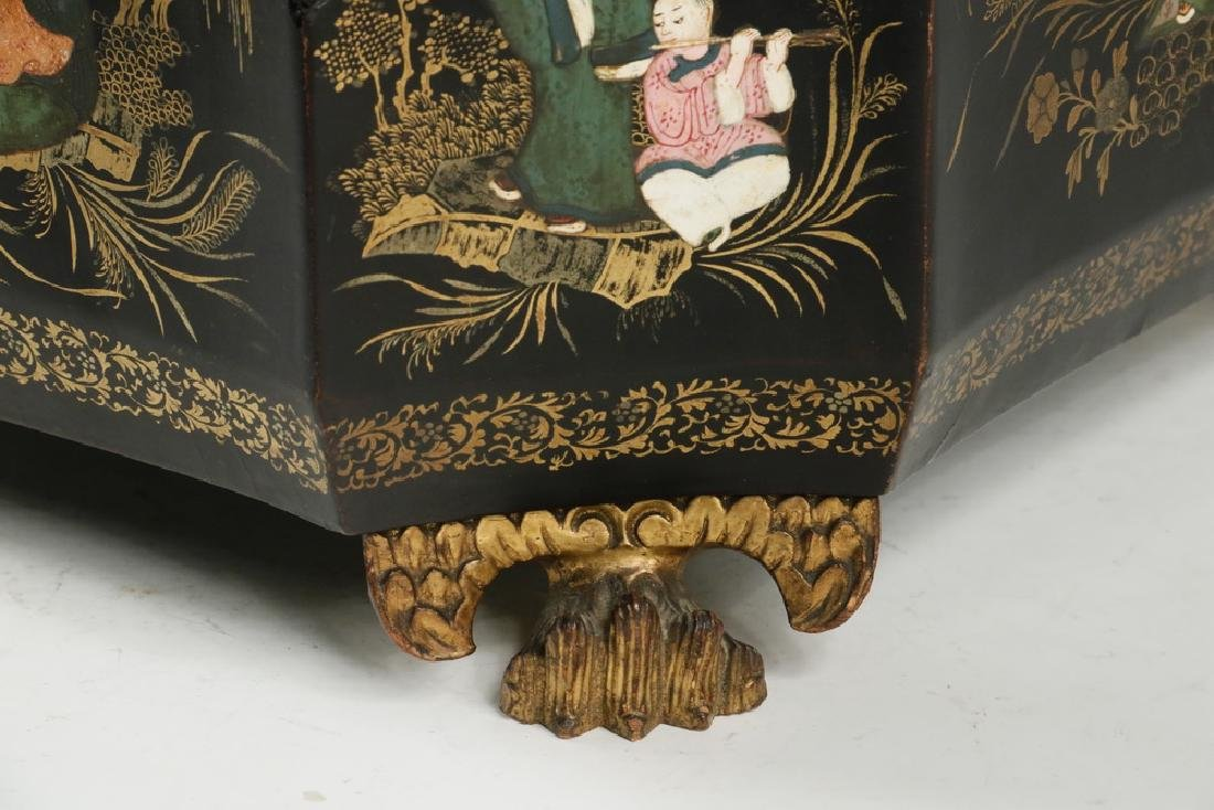 LACQUERED TEA CADDY - 4