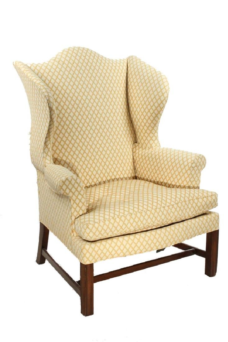 CHIPPENDALE PERIOD WINGCHAIR