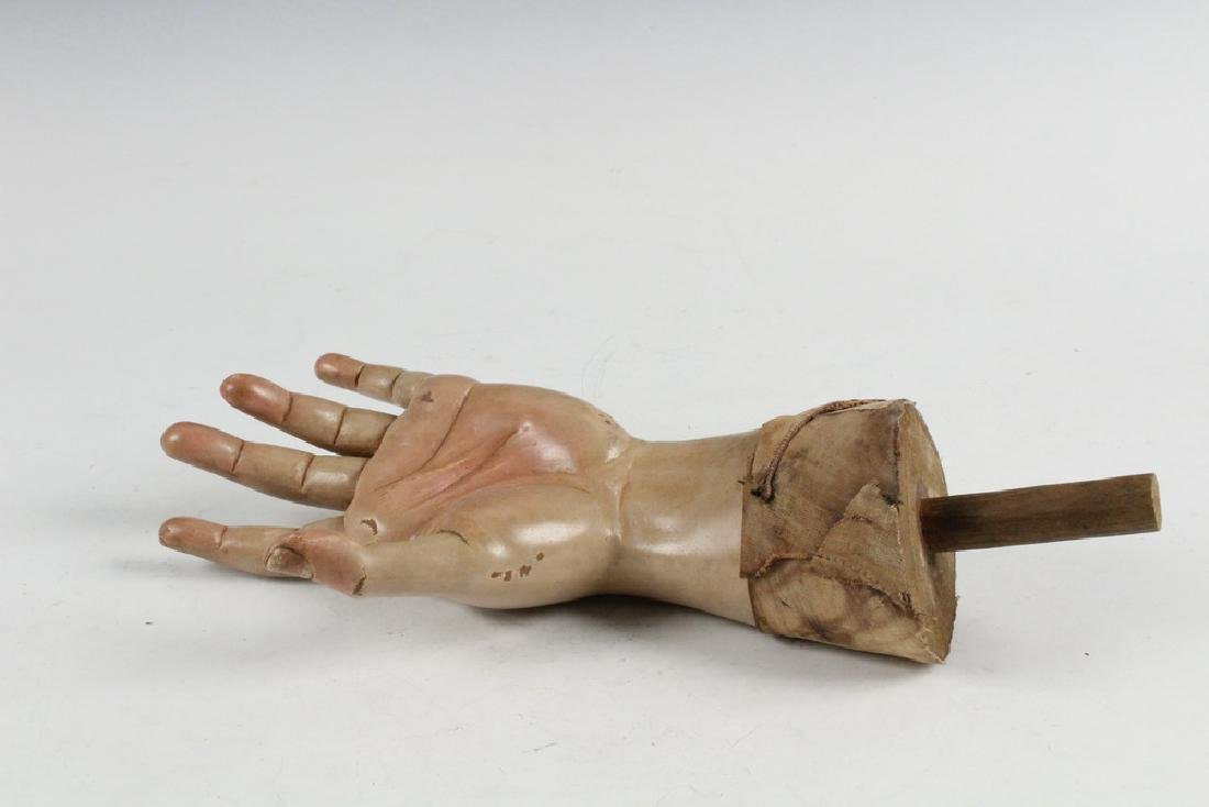 CARVED HAND STATUE FRAGMENT - 2