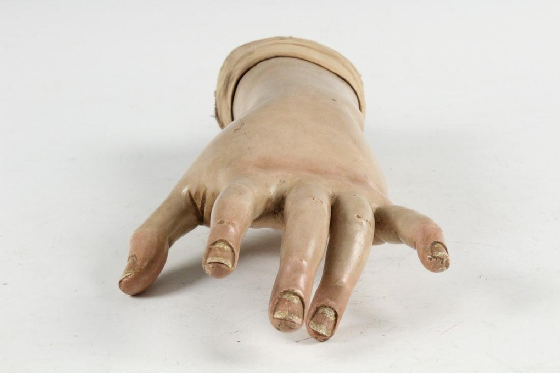 CARVED HAND STATUE FRAGMENT - 3