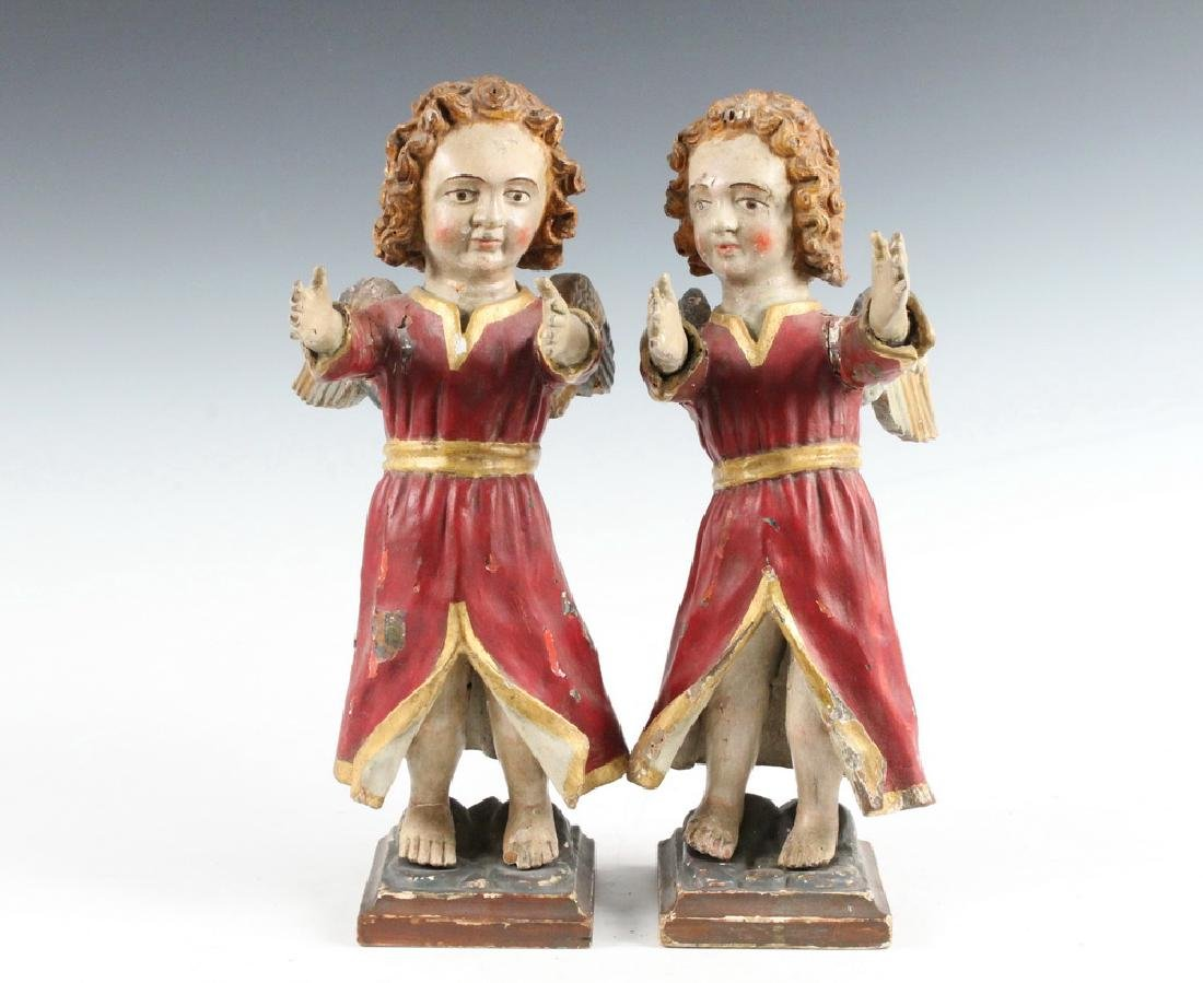 PAIR OF ECCLESIASTICAL SCULPTURES