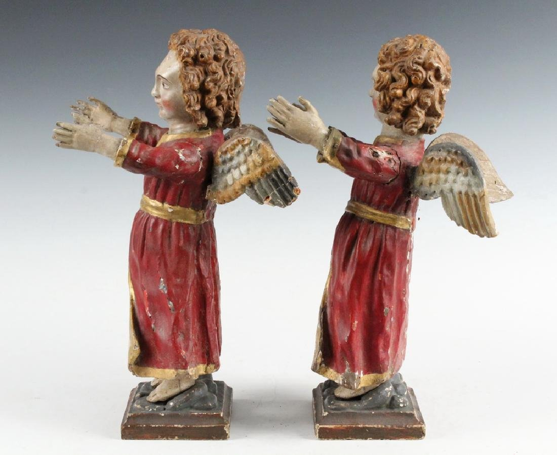 PAIR OF ECCLESIASTICAL SCULPTURES - 2