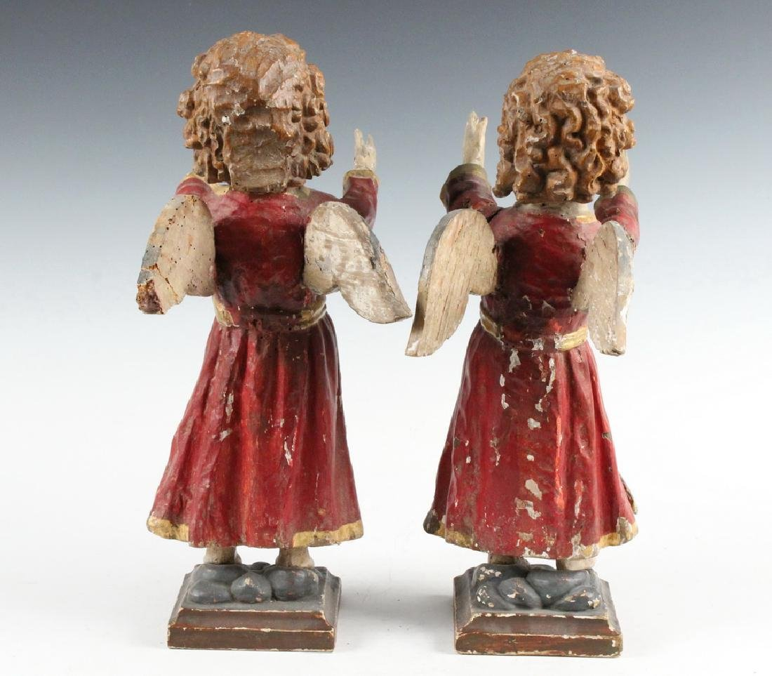 PAIR OF ECCLESIASTICAL SCULPTURES - 3