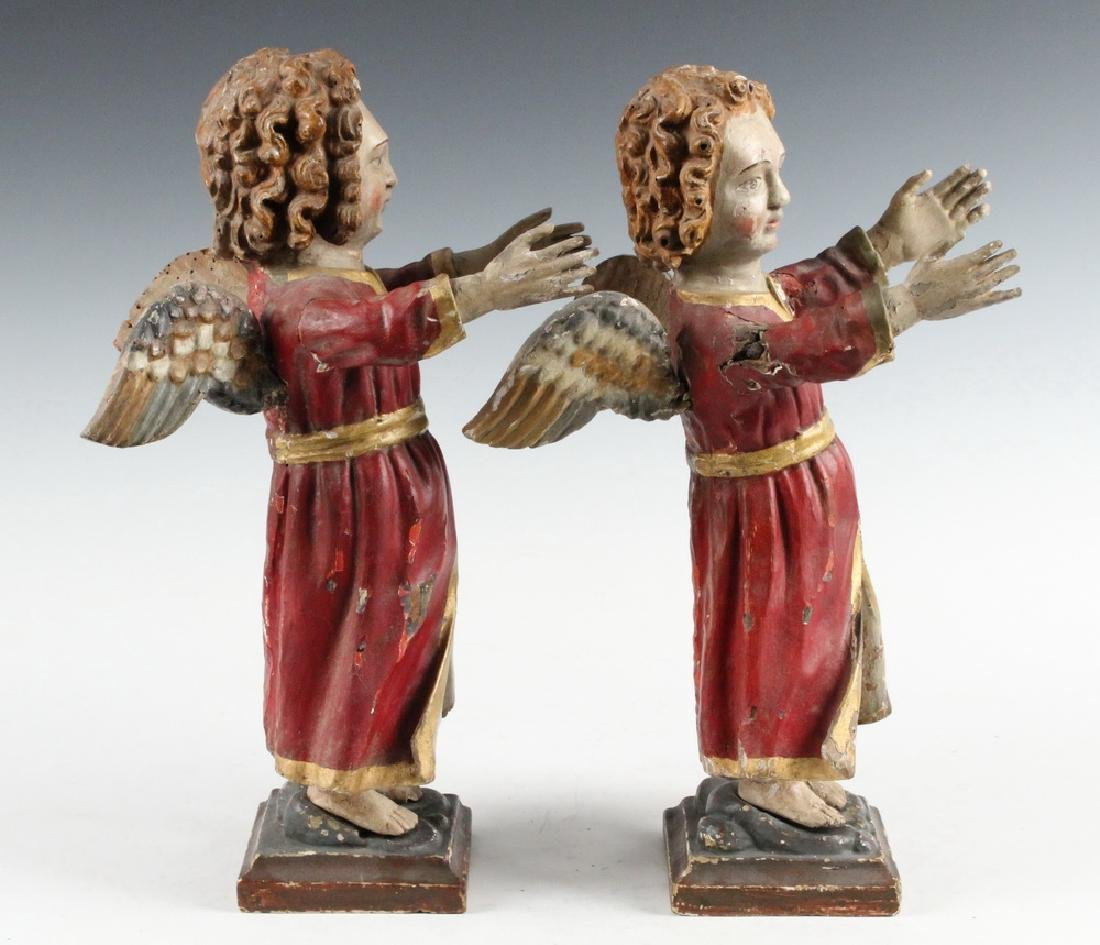 PAIR OF ECCLESIASTICAL SCULPTURES - 4