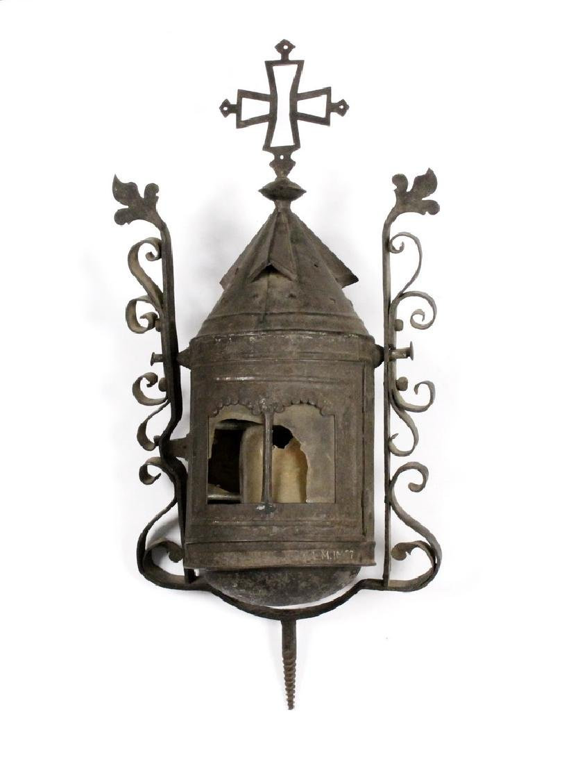 17TH C. SPANISH COLONIAL PROCESSIONAL LANTERN